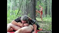 Voyeur Teen Joins Old Couple In The Woods For A... Thumbnail
