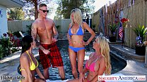 Sexy wives Emma Starr, Jessica Jaymes and Nikki Benz sharing cock Preview