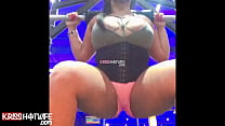 Hot Kriss Hotwife Squatting At The Gym In Short Punch