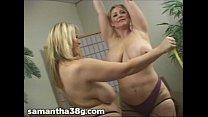 2 Big Tit MILFS Shake Tits and Rub Nipples