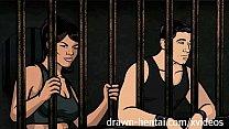 Archer Hentai - Jail sex with Lana video