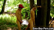 Twink movie Skylar West has been waiting in the forest for his insane