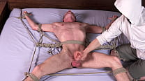Big Dick Blonde Twink Cums After Being Whipped