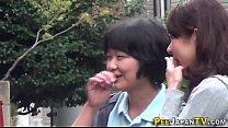 Asian teens caught peeing pornhub video