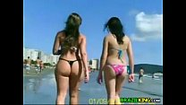 Brazilian Chicks Outside At The Beach