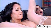 (Abby Lee Brazil & Valentina Nappi) Big Huge Tits Office Girl Love Intercorse video-01