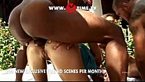 Interracial orgy at the pool directed by Rocco ...