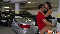 Liza Del Sierra gets fucked on a Car in an underground Garage