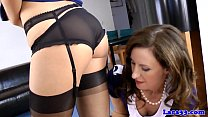 Classy british milf in uniform with babe