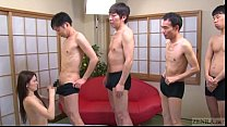 Subtitled Japanese AV star Mona Takei blowjob lineup