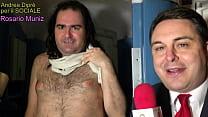 Smallest penis ever: Rosario Muniz completamente nudo presentato da Andrea Diprè