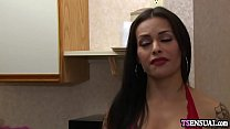 Latina shemale fucked by an angry boyfriends hard penis