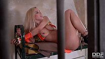 Gorgeous Blonde Nesty gets Tied up and Femdom F...
