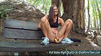 Sex Avia mature fingers banana pussy in the forest
