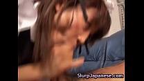 Japanese Milf Ami Kitajima Sucks