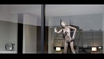 Skinny white lady fucked against glass window by BBC Preview