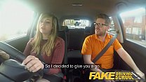 Fake Driving School 34F Boobs Bouncing in driving lesson - 9Club.Top