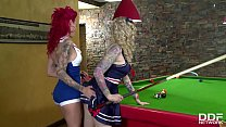 Pinup dolls Becky Holt & Belle Black fulfill th...