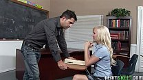 Blonde Schoolgi rl Elaine Fucking Her Prof In  ng Her Prof In The Classroom