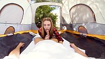 VRBangers.com ANYA OLSEN ROCKING THE TENT AND GETTING FUCKED OUTDOORS Image
