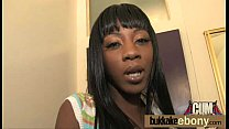 Hot ebony chick in interracial gangbang 28