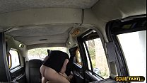 Super hot lady pays blowjob and rough sex in the cab
