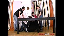 Anal fucked and humiliated in force by 4 guys mad!! French amateur