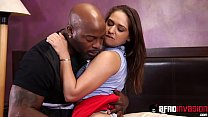 Young babe Sara Luvv destroyed by hard interracial sex's Thumb