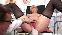 Shy GILF examined by freaky gynecologist - MatureGynoExam.com