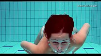 Hot tits and shaved pussy underwater Image
