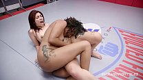 Daisy Ducati lesbian wrestling Ashlee Juliet fi... Thumbnail