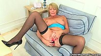 British milfs Amy and Sandie fulfill their honey pot's cravings thumbnail