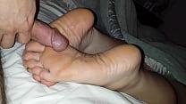 Image: Cumming On Girlfriend's Feet #5