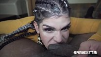 Blow job queen gives freak mob media a taste of Devils Throat til he cums on her Face
