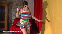 Spontaneous czech girl does hot lapdance
