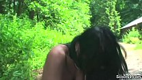 Real Mature Caught Piss Outdoor and Seduce to Fuck by Boy thumbnail