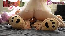 HOT BLONDE BABE FUCKS TEDDY BEAR thumb