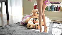 HOT BLONDE BABE FUCKS TEDDY BEAR Thumbnail