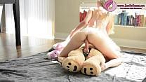 Hot Blonde Babe Fucks Teddy Bear