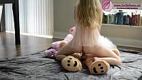 HOT BLONDE BABE FUCKS TEDDY BEAR Thumbnail