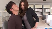 Yui Kasuga feels pleasure in extreme porn scene...