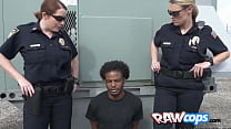 BBW officers arresting a huge loaded boner for fun