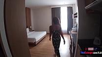 Thai teen girlfriend hotel suck and fuck with her big dick white boyfriend