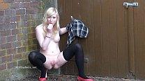 Blonde voyeur babes outdoor masturbation and public nudity of fingering amateur Preview