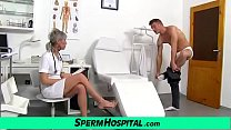 Hot Mature Lady Giving A Handjob Feat. Dirty Doctor Beate