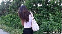 Tight girl Casey Jordan fucked in public place ...