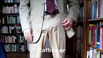 Taking it to stroke out in a summer suit