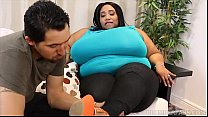 Ebony SSBBW Cotton Candi Slurps and Sucks on La...