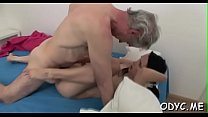 Dilettante babe lets an older dude permeate her cuchy