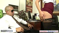 Office babe in glasses Kennedy Leigh gets nailed thumb